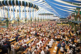 german tourists stock photography | Germany, Munich, Oktoberfest, Beer hall, image id 3-952-2