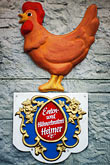 farm animal stock photography | Germany, Munich, Oktoberfest, Huhnerbraterei sign, image id 3-952-36