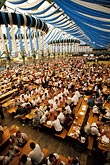 hall stock photography | Germany, Munich, Oktoberfest, Beer hall, image id 3-952-5
