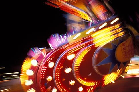 image 3-952-59 Germany, Munich, Oktoberfest, Fairgrounds at night