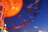 carnival ride stock photography | Germany, Munich, Oktoberfest, Fairgrounds at night, image id 3-952-73
