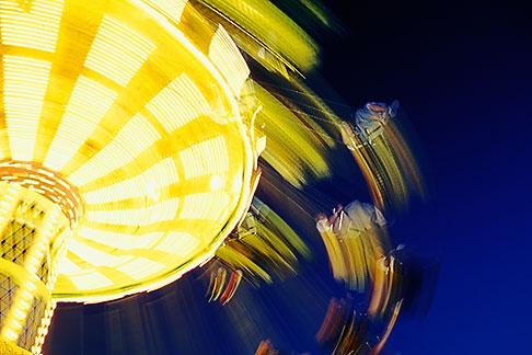 image 3-952-79 Germany, Munich, Oktoberfest, Fairgrounds at night