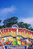 signage stock photography | Germany, Munich, Oktoberfest, Fruit candy stand, image id 3-952-954