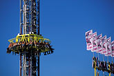 midway stock photography | Germany, Munich, Oktoberfest, Freefall tower, image id 3-953-29