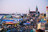 ride stock photography | Germany, Munich, Oktoberfest, View of fairgrounds from ferris wheel, image id 3-953-49