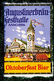 theresienwiese stock photography | Germany, Munich, Oktoberfest, Oktoberfest poster, image id 3-954-49