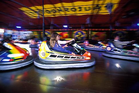 image 3-954-62 Germany, Munich, Oktoberfest, Autoskooter bumper cars carnival ride
