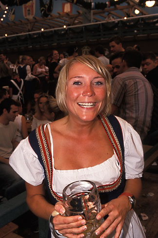 image 3-955-24 Germany, Munich, Oktoberfest, Woman in beer hall