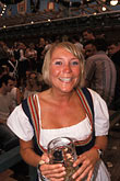dressed up stock photography | Germany, Munich, Oktoberfest, Woman in beer hall, image id 3-955-24