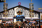 tent stock photography | Germany, Munich, Oktoberfest, Pschorr beer hall, image id 3-955-36