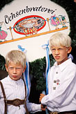 two young people stock photography | Germany, Munich, Oktoberfest, Children in traditional Bavarian clothes, image id 3-956-41