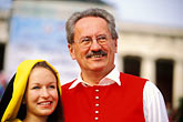 young couple stock photography | Germany, Munich, Oktoberfest, The M�nchner Kindl, young girl , image id 3-956-42