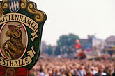 signage stock photography | Germany, Munich, Oktoberfest, Crowd at band concert, image id 3-956-52