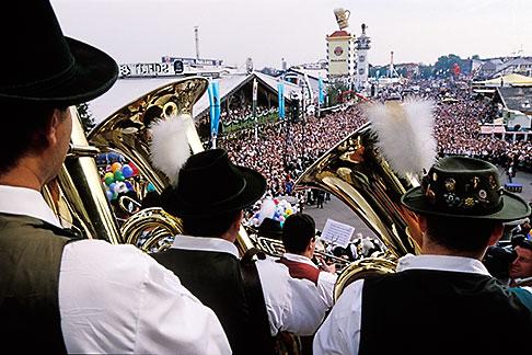 image 3-956-57 Germany, Munich, Oktoberfest, Band concert