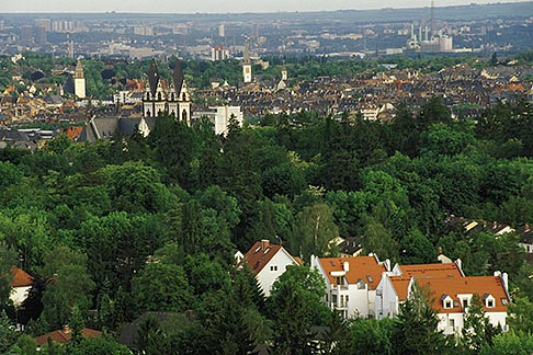 germany wiesbaden view overlooking city from neroberg. Black Bedroom Furniture Sets. Home Design Ideas