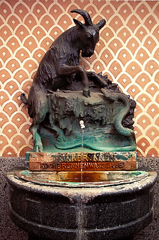 image 5-261-3 Germany, Wiesbaden, Drinking fountain, thermal water Schwarzer Bock spa,