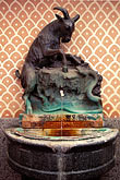 goat stock photography | Germany, Wiesbaden, Drinking fountain, thermal water Schwarzer Bock spa, , image id 5-261-3