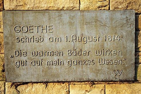 image 5-266-3 Germany, Wiesbaden, Goethe praises warm baths