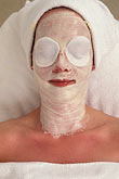 face stock photography | Germany, Wiesbaden, Beauty treatment, Nassauer Hof spa, image id 5-291-34