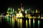 lit stock photography | Germany, Frankfurt, Skyline lights abstract, image id 5-534-23