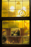 lit stock photography | Germany, Frankfurt, Stained glass, Zum Gemalten Haus tavern, image id 5-553-1