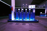 pump station stock photography | Germany, Gas station at night, image id 5-557-7