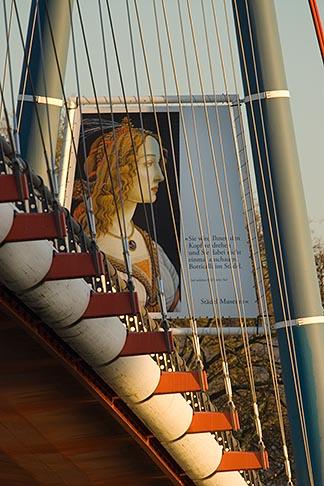 image 8-710-1353 German, Frankfurt, Holbeinsteg Pedestrian Bridge