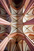 vertical stock photography | German, Frankfurt, Dom, Cathedral of St. Bartholomew, ribbed vaulted ceiling, image id 8-710-16