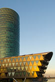 vertical stock photography | German, Frankfurt, Westhafen office complex, image id 8-710-76