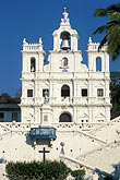 whitewashed building stock photography | India, Goa, Panjim, Our Lady of Immaculate Conception, image id 0-600-90