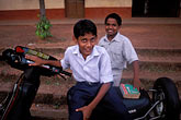 cyclist stock photography | India, Goa, Schoolboys, Arambol, image id 0-603-3