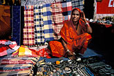 colorful indian fabrics stock photography | India, Goa, Anjuna flea market, image id 0-607-16