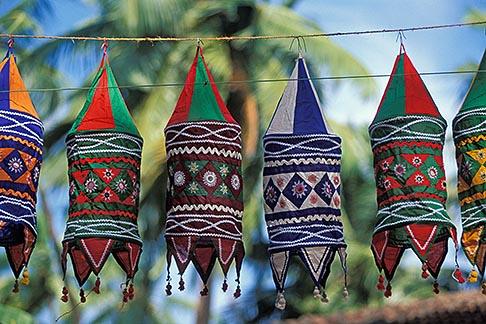 image 0-608-7 India, Goa, Wind hangings, Anjuna flea market
