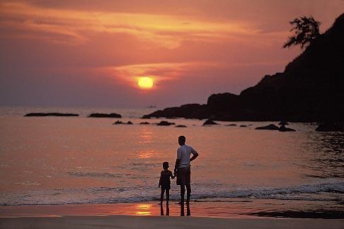 image 0-609-48 India, Goa, Sunset, Baga Beach