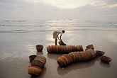 pastel stock photography | India, Goa, Fishermen