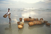 image 0-610-9 India, Goa, Fishermens baskets, Colva Beach