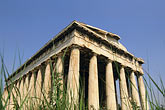 downtown district stock photography | Greece, Athens, Ancient Agora, the Thesseion, Temple of Hephaestus, image id 3-650-26