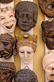 face stock photography | Greece, Athens, Masks, image id 3-650-63
