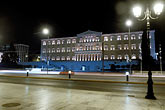 travel stock photography | Greece, Athens, Parliament building at night, image id 3-651-76