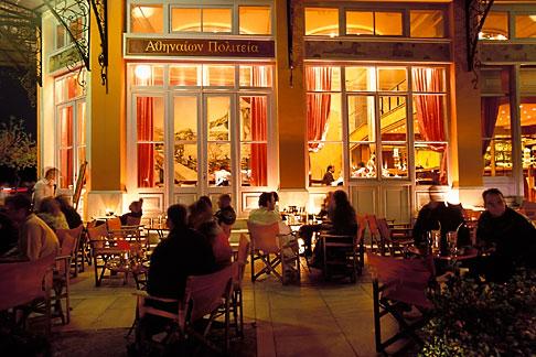 image 3-653-2 Greece, Athens, Thissio, Cafe Athenion Politeia