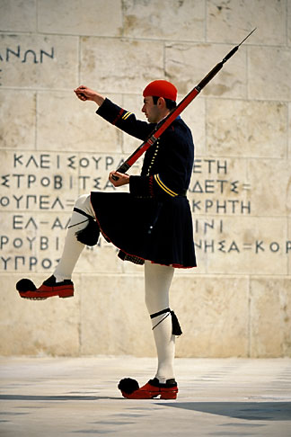 image 3-653-78 Greece, Athens, Evzone on guard, Parliament building