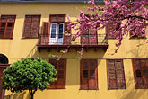 house with tree blossoms stock photography | Greece, Athens, Monastiraki, House with tree blossoms, image id 3-654-72