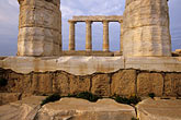 yellow stock photography | Greece, Attica, Cape Sounion, Temple of Poseidon, image id 3-670-59