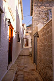 narrow street stock photography | Greece, Hydra, Street scene, image id 3-700-27