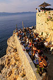 cliff stock photography | Greece, Hydra, Ydronetta Cafe and Bar, image id 3-701-20