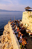 fortress stock photography | Greece, Hydra, Ydronetta Cafe and Bar, image id 3-701-22