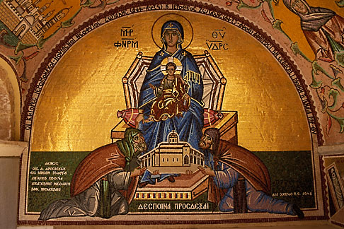 image 3-701-85 Greece, Hydra, Monastery of the Assumption of the Virgin Mary, Mosaic