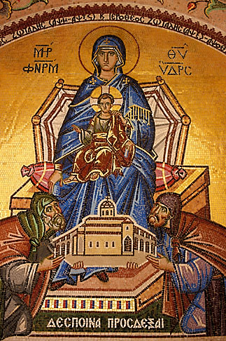 image 3-701-87 Greece, Hydra, Monastery of the Assumption of the Virgin Mary, Mosaic