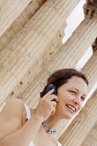 woman on mobile phone stock photography | Greece, Woman on mobile phone, image id 7-640-511