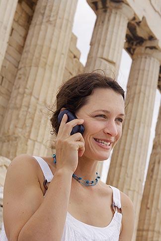 image 7-640-514 Greece, Woman on mobile phone